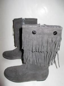 Girls Fringe Boots | eBay