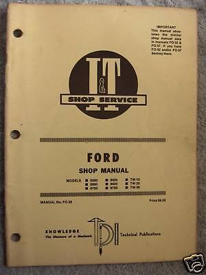 It Ford 8000860087009000tw-10 Tractor Shop Manual