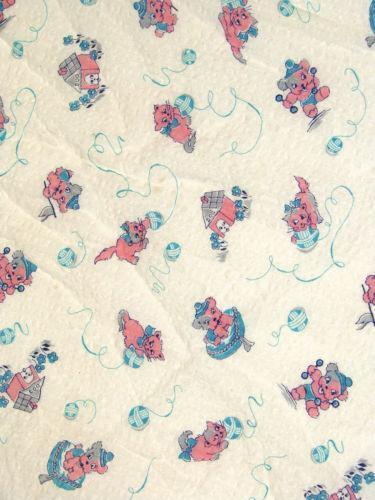 Vintage Cat Fabric Ebay