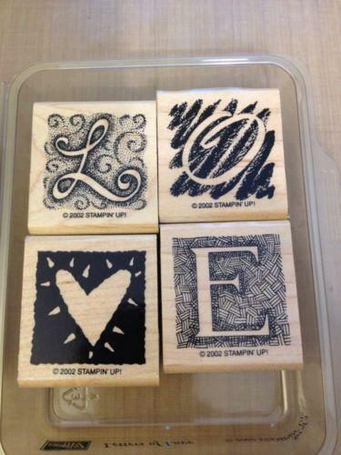Stampin Up Letters Stamps Ebay