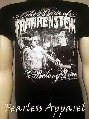 Universal Monsters We Belong Dead Bride Of Frankenstein Horror T Shirt S-2Xl](Dead Bride)