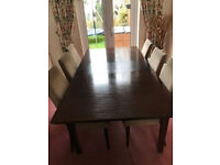 DINING EXTENDABLE TABLE WITH 6 CHAIRS + FREE DELIVERY