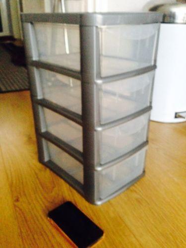 plastic storage drawers storage solutions ebay. Black Bedroom Furniture Sets. Home Design Ideas
