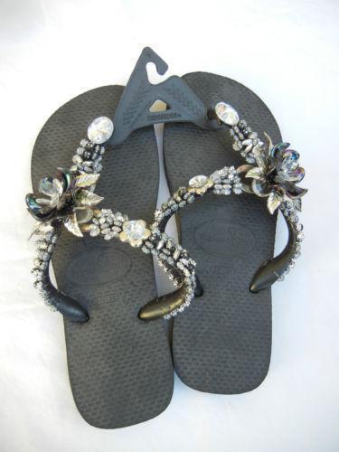 Flip Flops With Rhinestones Ebay