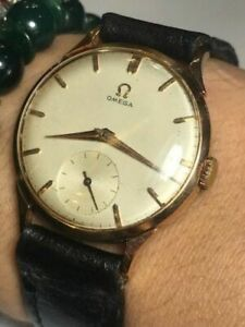 1950 VINTAGE 18K ROSE GOLD OMEGA WATCH 1400$ OR BEST OFFER