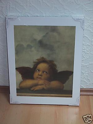 Schönes Engel Bild von Raffaello Sanzio NEU Cherubino II Engel auf Leinwand