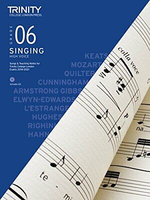 Trinity College London Singing 2018-2021 Grade 6 High Voice By Various Book - $11.01