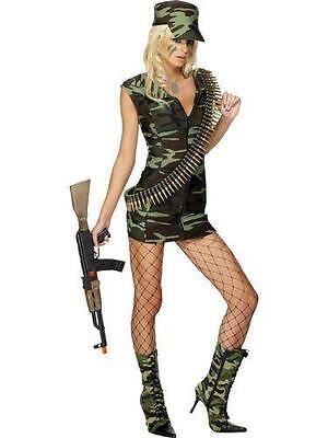 Army Brat Halloween Costume (NEW Sexy Soldier Army Brat Woman's Military Camo Dress Costume Halloween)