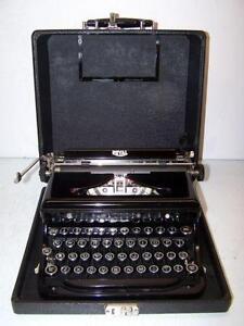 Restored royal typewriters.