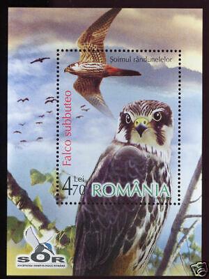 Romania 2007- Birds of Prey:Falcon S.S.  MNH