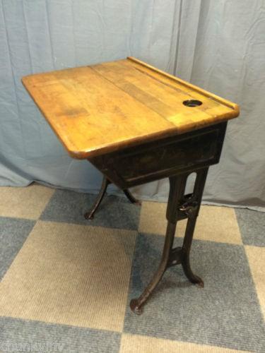 Vintage Childs School Desk Ebay