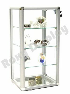 - Glass Countertop Display Case Store Fixture Showcase with front lock #SC-KDCAB