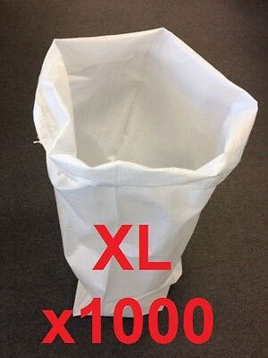 1000 Extra Large Woven Polypropylene Sacks Strong Rubble Bags Size 60x100cm XL