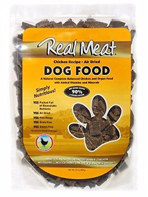 2lbs Real Meat Dog Food 90% Air Dried Chicken Flavor