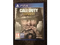 PS4 Call of Duty WW2 in mint condition like new