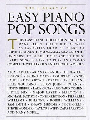 The Library of Easy Piano Pop Songs Sheet Music Easy Piano SongBook 000232489