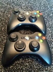 OFFICIAL XBOX 360 SLIM ELITE BLACK WIRELESS CONTROLLER PADs x 2