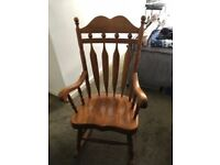 "Very solid ""Farmhouse"" type Rocking Chair - Good condition"