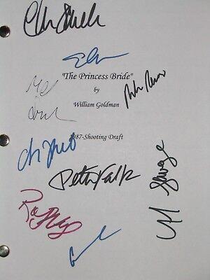 The Princess Bride Signed Film Script 9X Peter FALK CARY ELWES FRED SAVAGE repnt