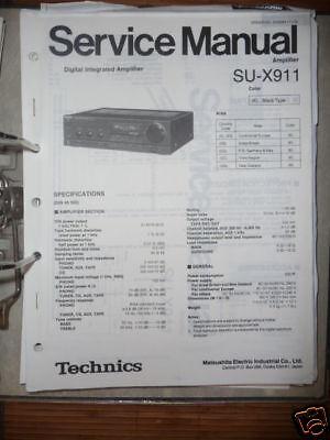 Technics Manual de Servicio Su-X991 Amplificador, Original segunda mano  Embacar hacia Mexico
