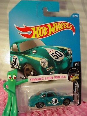 PORSCHE 356A OUTLAW #325✰teal green;50✰NIGHTBURNERZ✰2017 i Hot Wheels case P