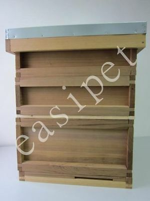 National Bee Hive Bee Keeping Cedar 2 Super 1 Brood Beekeeping Beehive Easibee