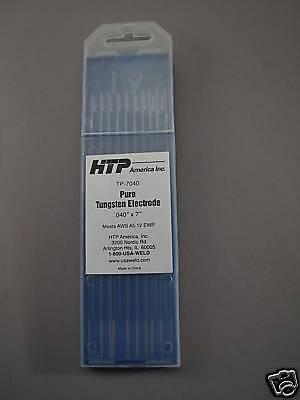 10 Pure Tungsten Tig Weld Welding Electrodes .040 X 7