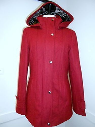 New Womens Calvin Klein Wool Blend Jacket Coat & Hood Lined U PICK COLOR & SIZE