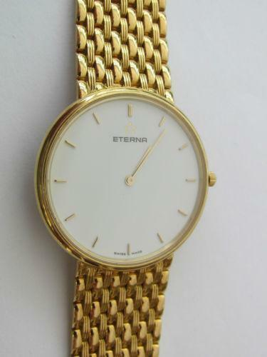 mens 18ct solid gold watches ebay