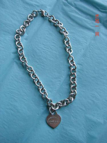 Tiffany Heart Tag Necklace Ebay