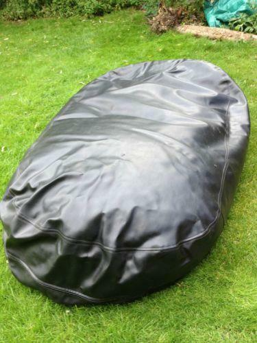 Large Leather Bean Bag Ebay