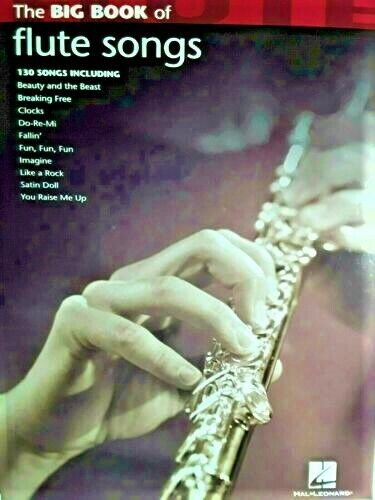 The Big Book Of Flute Songs, 130 Selections, 144 Pages ** L I K E ** N E W **