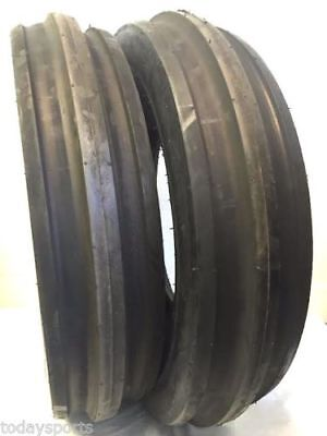 Two New 7.50-16 Tri-rib Front Tractor Tires 10 Ply Tubeless Super Heavy Duty
