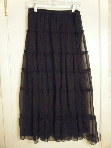 Petite Long Black Skirt Ebay