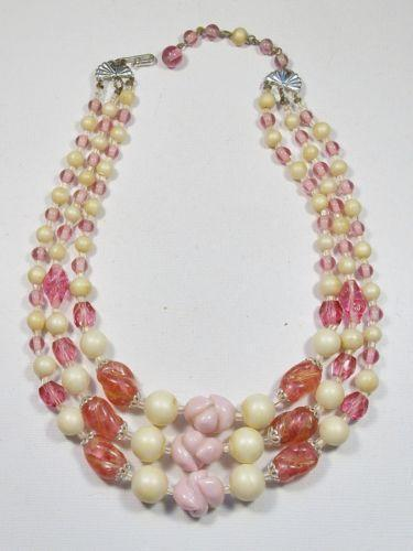 Vintage Pink Pearl Necklace Ebay
