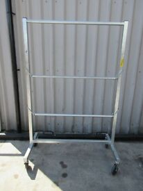 CLOTHING RACK / RAIL - 3 RAILS - ON WHEELS - USED GOOD CONDITION £30 !!! WOW