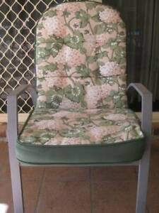 SET OF 6 OUTDOOR CHAIR CUSHIONS - $50 THE LOT