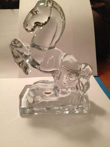 Vintage Glass Horse Bookends Ebay