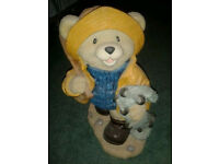 Fishing bear ornament collectable item child gift idea