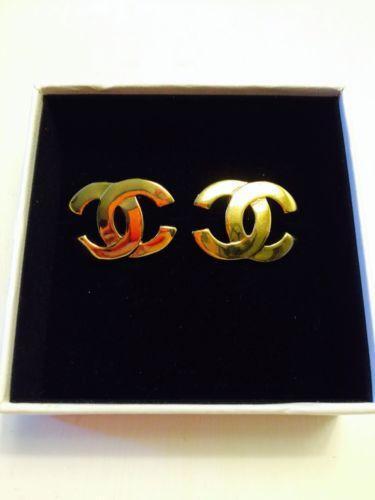 Chanel Gold Earrings eBay