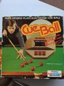 VINTAGE ALEX HIGGINS CUE BALL SNOOKER GAME, £80