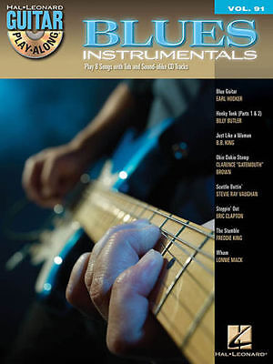 Blues Instrumentals Guitar Play Along 8 Songs  Tab Book Cd New