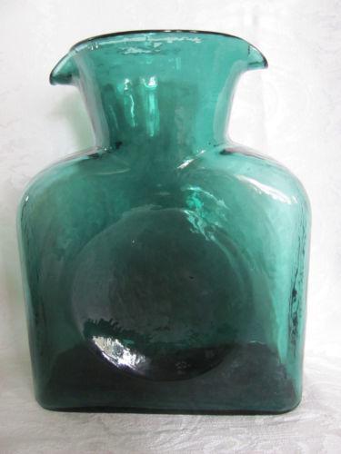 Blenko Green Vase Ebay
