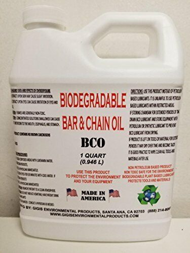 Biodegradable bar and chain oil