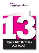 Personalised 13th Birthday Card