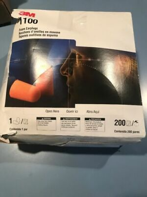 3m 1100 Uncorded Disposable Foam Ear Plugs Nrr 29 Individually Packaged 200bx