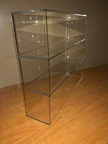 "305Displays Acrylic Countertop 19""w x 5""d x 16""h w/2 Shelves Display Showcase"