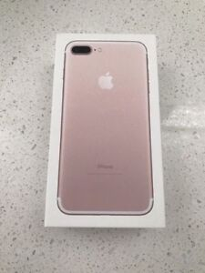 Unlocked iPhone 7+ (plus) Rose Gold for sale (32GB)