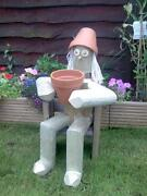 Wooden Flower Pot Men