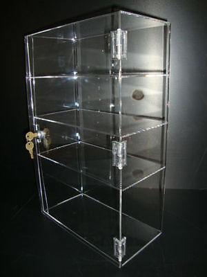 305displays Acrylic Countertop Display 12 X 6 X 19 Locking Security Showcase